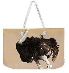Ostrich Weekender Tote Bag by Johan Swanepoel