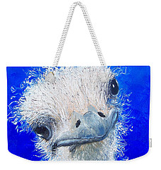Ostrich Painting 'waldo' By Jan Matson Weekender Tote Bag by Jan Matson