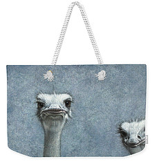 Ostriches Weekender Tote Bag by James W Johnson