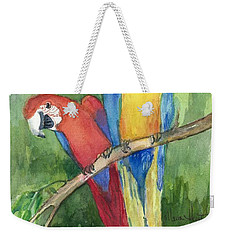 Out For Lunch In The Wild Weekender Tote Bag by Maria Hunt
