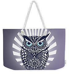 Owl Weekender Tote Bag by Mark Ashkenazi