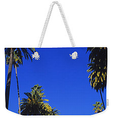 Palm Trees Along A Road, Beverly Hills Weekender Tote Bag by Panoramic Images