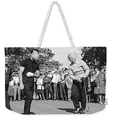 Palmer, Player And Nicklaus Weekender Tote Bag by Underwood Archives