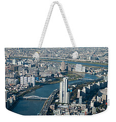Panorama Of Tokyo Weekender Tote Bag by Jill Mitchell