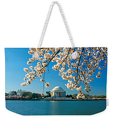 Panoramic View Of Jefferson Memorial Weekender Tote Bag by Panoramic Images