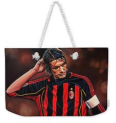 Paolo Maldini Weekender Tote Bag by Paul Meijering