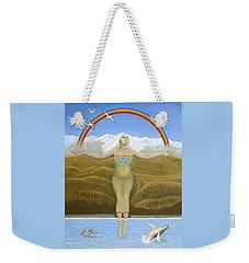 Papatuanuku / Capricorn Weekender Tote Bag by Karen MacKenzie