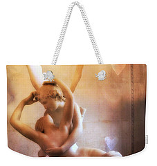 Paris Eros And Psyche Louvre Museum- Musee Du Louvre Angel Sculpture - Paris Angel Art Sculptures Weekender Tote Bag by Kathy Fornal