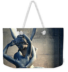 Paris Eros And Psyche Romantic Lovers - Paris In Love Eros And Psyche Louvre Sculpture  Weekender Tote Bag by Kathy Fornal