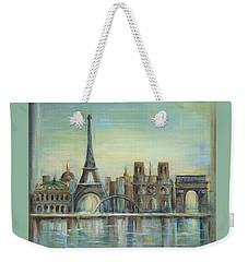 Paris Highlights Weekender Tote Bag by Marilyn Dunlap