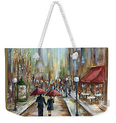 Paris Lovers Ill Weekender Tote Bag by Marilyn Dunlap