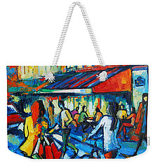 Parisian Cafe Weekender Tote Bag by Mona Edulesco