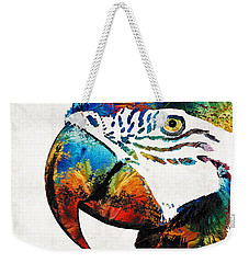 Parrot Head Art By Sharon Cummings Weekender Tote Bag by Sharon Cummings