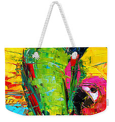 Parrot Lovers Weekender Tote Bag by Mona Edulesco