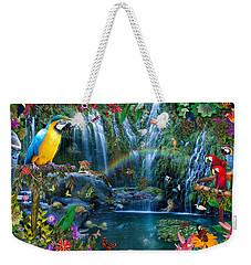 Parrot Tropics Weekender Tote Bag by Alixandra Mullins