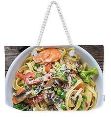 Pasta Primavera Dish Weekender Tote Bag by Edward Fielding