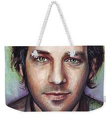 Paul Rudd Portrait Weekender Tote Bag by Olga Shvartsur