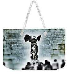 Pause - The Winged Victory In Louvre Paris Weekender Tote Bag by Marianna Mills
