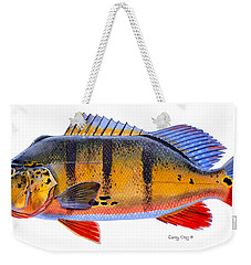 Peacock Bass Weekender Tote Bag by Carey Chen