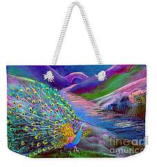 Peacock Magic Weekender Tote Bag by Jane Small