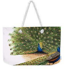 Peacocks Weekender Tote Bag by RB Davis