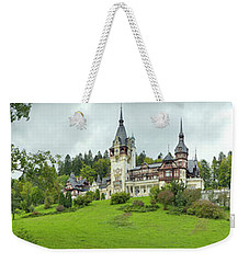 Peles Castle In The Carpathian Weekender Tote Bag by Panoramic Images