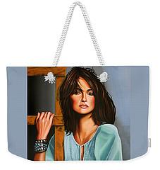 Penelope Cruz Weekender Tote Bag by Paul Meijering