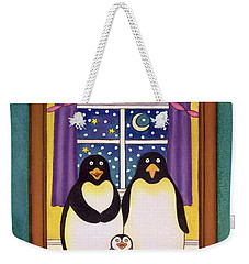 Penguin Family Christmas Weekender Tote Bag by Cathy Baxter