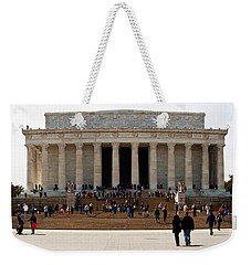 People At Lincoln Memorial, The Mall Weekender Tote Bag by Panoramic Images