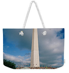 People At Washington Monument, The Weekender Tote Bag by Panoramic Images