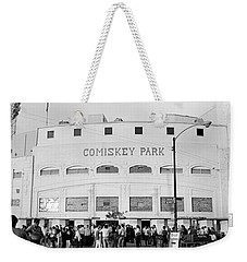 People Outside A Baseball Park, Old Weekender Tote Bag by Panoramic Images