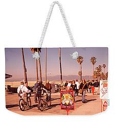 People Walking On The Sidewalk, Venice Weekender Tote Bag by Panoramic Images