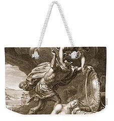 Perseus Cuts Off Medusas Head, 1731 Weekender Tote Bag by Bernard Picart