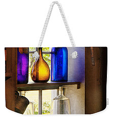 Pharmacy - Colorful Glassware  Weekender Tote Bag by Mike Savad
