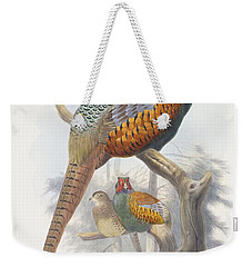 Phasianus Elegans Elegant Pheasant Weekender Tote Bag by Daniel Girard Elliot