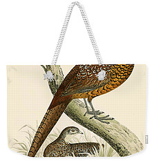 Pheasant Weekender Tote Bag by Beverley R Morris