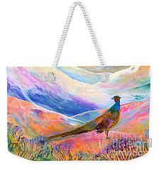 Pheasant Moon Weekender Tote Bag by Jane Small