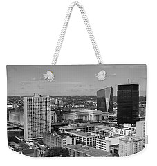 Philadelphia - A View Across The Schuylkill River Weekender Tote Bag by Rona Black