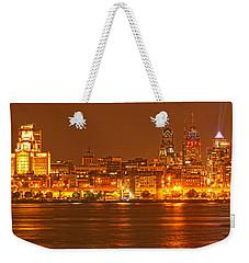 Philadelphia Across The Delaware Weekender Tote Bag by Adam Jewell