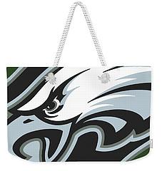 Philadelphia Eagles Football Weekender Tote Bag by Tony Rubino