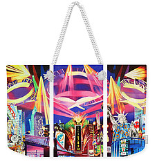 Phish New York For New Years Triptych Weekender Tote Bag by Joshua Morton