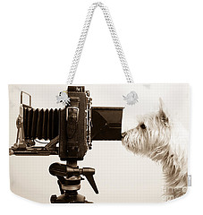 Pho Dog Grapher Weekender Tote Bag by Edward Fielding