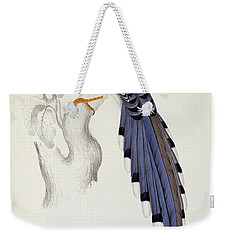 Pica Erythrorhyncha, From A Century Of Birds From The Himalaya Mountains Weekender Tote Bag by Elizabeth Gould