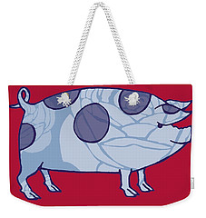 Piddle Valley Pig Weekender Tote Bag by Sarah Hough