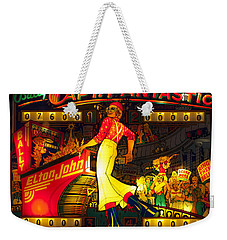 Pinball Machine Capt. Fantastic Weekender Tote Bag by Terry DeLuco