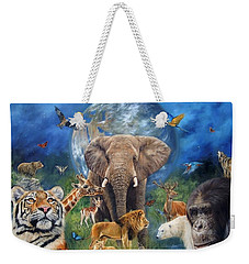 Planet Earth Weekender Tote Bag by David Stribbling