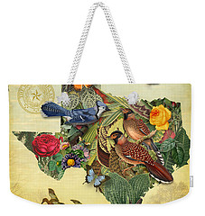 Plant Map Of Texas Weekender Tote Bag by Gary Grayson