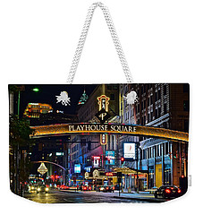 Playhouse Square Weekender Tote Bag by Frozen in Time Fine Art Photography