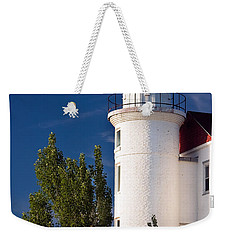 Point Betsie Lighthouse Michigan Weekender Tote Bag by Adam Romanowicz