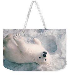 Polar Bear Cub Weekender Tote Bag by Mark Newman